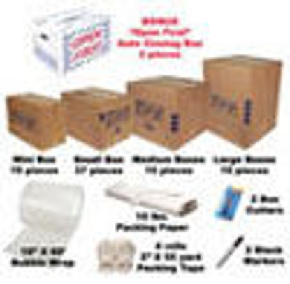 Picture of Moving Boxes Kit #4 / 79 Cartons+Supplies Free Shipping