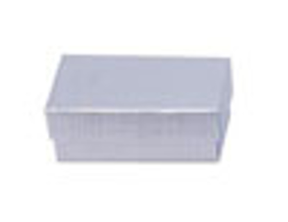 """Picture of Silver Linen Jewelry Boxes - 2 1/2 x 1 1/2 x 7/8"""""""